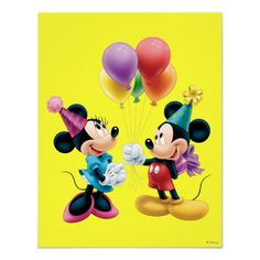 Mickey Mouse  Minnie Birthday Posters