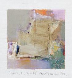 "Jan. 1, 2018 9 cm x 9 cm (app. 4"" x 4"") oil on canvas  © 2018 Hiroshi Matsumoto www.hiroshimatsumoto.com"