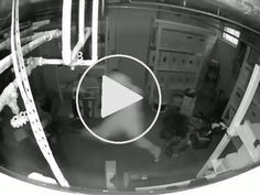 This dude escaping a police raid when they broke into his weed growing lab – Gif