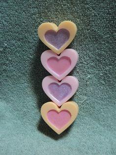 Valentine Soap  Heart Soap Set  Mango and Pink by heffernanscrafts, $4.00