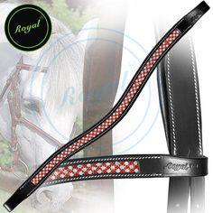 Royal Designer Necklace Pattern Red White U-Shaped Crystal Brow Band.
