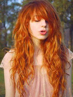"Incredible red hair. Perfect pale skin. Beautiful. I have ""really pretty"" olive skin, but I wish I looked like this..."