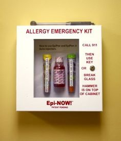 Awesome! Yet another way to help save a life. Amazon.com: EpiNOW Allergy Emergency Kit - School Lunch Room Epinephrine Cabinet: Health & Personal Care