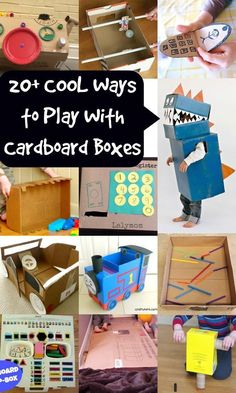 Fun crafts With Cardboard - Cardboard Crafts for Kids Ways to Have Fun With a Cardboard Box Craft Activities For Kids, Toddler Activities, Projects For Kids, Diy For Kids, Emotions Activities, Craft Ideas, Cardboard Box Crafts, Cardboard Toys, Cardboard Castle