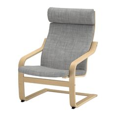 POÄNG Chair IKEA Layer-glued bent birch frame gives comfortable resilience. The high back provides good support for your neck.