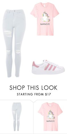 """pank"" by chyncast on Polyvore featuring Topshop and adidas Originals"