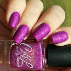 Colors by Llarowe - Rare Orchid swatched by @delishiousnails