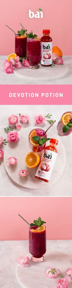 It's time to fall in love with this magical mocktail featuring Bai Sumatra Dragonfruit and its 5 calories, 1 gram of sugar and no artificial sweeteners.