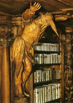 Library in the Cistercienserinnen Abbey Waldsassen. Protea, S.Africa - Not creepy at all! Beautiful Library, Dream Library, Library Books, Library Shelves, I Love Books, Books To Read, Book Art, Home Libraries, Book Nooks