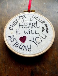 Change Your Heart Song Lyrics 4 Embroidery by CraftDrawerUK, £6.50