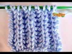 Brioche Stitch Scarf en 2 agujas o palitos Knitting Stiches, Knitting Videos, Crochet Videos, Knitting For Beginners, Lace Knitting, Knitting Projects, Crochet Stitches, Crochet Projects, Stitch Patterns