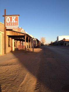 """O.K. Corral in Tombstone, AZ.  Stay at Hummingbird Ranch Vacation House in Pearce AZ.  $695 Week Call~ 520-265-3079.  Southeastern Arizona. 3 Ghost towns, tons of history to explore, close to """"The Cochise Stronghold National Park & """"The Chiricahua National Monument"""". Great views of both parks from our Ranch. Ground zero for """"The Winter Birding Migration"""" 10,000 Sandhill Cranes and many other birds and animals call The Sulphur Springs Valley their home."""