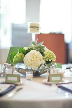 Hydrangeas and Mirrored Vase