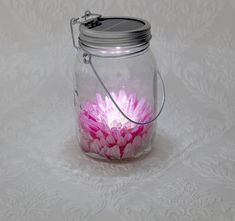 Consol solar jar - lovely for a reception walkway, hanging from the trees or at the table
