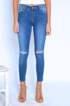 Blue Ivy Jeans - Dark Blue   Gingham & Heels #WITCHERYSTYLE