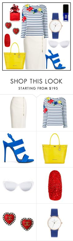"""""""Untitled #81"""" by glamheartcafe ❤ liked on Polyvore featuring MaxMara, Ports 1961, Giuseppe Zanotti, Versace, Elizabeth and James, Chanel and Marc Jacobs"""