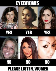 eyebrows.. they are important