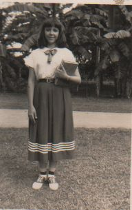 Alma Flor Ada, fifteen years old. The uniform indicates fourth year at the Instituto de Segunda Ensenanza de Camaguey. The photo was taken at La Quintica, her home behind la Quinta Simoni My Life, In This Moment, People, Photos, Fashion, Dual Language, Pictures, Moda, Photographs
