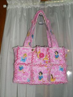 Quilted Rag Bag princess rag purse www.facebook.com/handmade.by.jenni