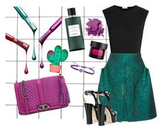 """Teal + Purple"" by cherieaustin ❤ liked on Polyvore featuring Alix, Delpozo, Giuseppe Zanotti, Rebecca Minkoff, IaM by Ileana Makri, Hermès, The Body Shop and Bobbi Brown Cosmetics"