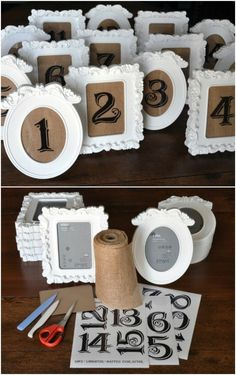 Craft Wedding, Diy Wedding Decorations, Our Wedding, Dream Wedding, Wedding Rings, Diy Wedding Table Numbers, Vintage Table Decorations, Wedding Ideas For Tables, Wedding Ideas With Cricut