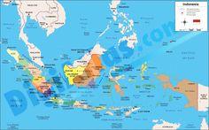 indonesia mapa politico - Buscar con Google