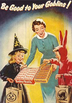 vintage halloween images | Picture 1 of 9 from Vintage Halloween Illustration and Ads