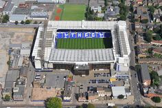 An aerial photograph of Tottenham Hotspurs Football Club�s White Hart Lane Stadium, North London
