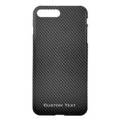 Black para-aramid synthetic Texture iPhone 7 Plus Case #carbonfibreiphone7 #iphone7case #iphone7carbonfibre