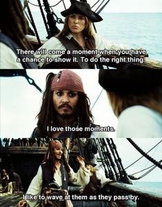 Pirates Of The Caribbean Quotes wave the moments pirates of caribbean disney johnny depp motivational quotes and pirates of the caribbean. pirates of Jack Sparrow Funny, Jack Sparrow Quotes, Johnny Depp, Funny Disney Memes, Disney Quotes, Pirate Life, Really Funny Memes, Funny Facts, Movie Facts