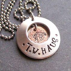 Personalized Handstamped Horse Locket Pendant,Quote Inside  $30    #personalized #jewelry #Handstamped
