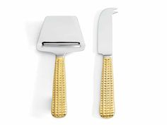 Michael Wainwright Manhattan Gold Cheese Shaver/Knife Set  http://www.thebowlcompany.com/products/Michael-Wainwright-Manhattan-Gold-Cheese-ShaverKnife-Set/164475