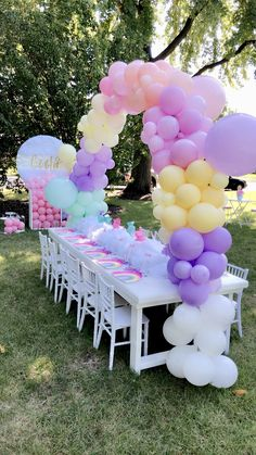 Tea Party Birthday, Unicorn Birthday Parties, Unicorn Party, Birthday Party Themes, Jojo Siwa Birthday, Rainbow Birthday, Anniversaire Candy Land, Festa Do My Little Pony, Festa Toy Story