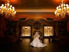 Wedding+couple+in+the+Heaven+Lobby+at+Hard+Rock+Hotel+Riviera+Maya.