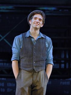 Dan Deluca in the touring cast of Disney's Newsies (Photo by Deen Van Meer) Can't wait to see this cast in January!