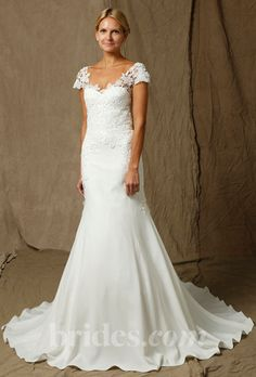 lela rose lace cap sleeved wedding dress fall 2013