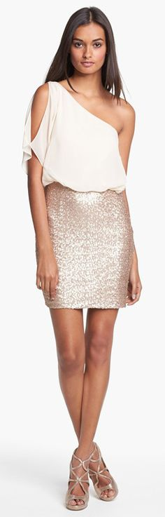 Gold and White Glamorous Night Outfit Aidan Mattox....wish i could wear this