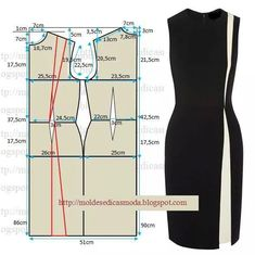 Post with illustration on how to alter a standard sheath dress pattern to create this color-blocked dress Pattern Cutting, Pattern Making, Diy Clothing, Sewing Clothes, Dress Sewing Patterns, Clothing Patterns, Fashion Sewing, Diy Fashion, Sewing Hacks