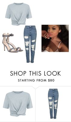 """""""Not too sure about this one """" by jasmine-o28 ❤ liked on Polyvore featuring T By Alexander Wang, Topshop and Gianvito Rossi"""