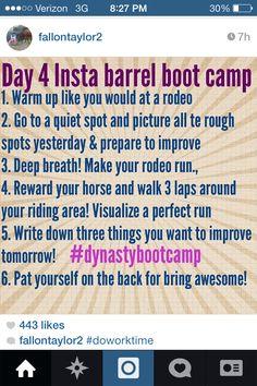Day Four: Insta Barrel Bootcamp - Fallon Taylor Tips
