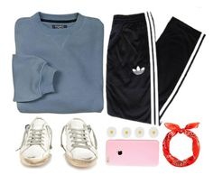 """""""shut"""" by geenamichelle ❤ liked on Polyvore featuring adidas, Golden Goose, Accessorize, women's clothing, women's fashion, women, female, woman, misses and juniors"""
