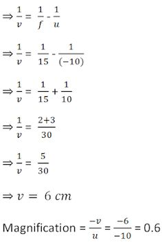 NCERT Solutions for Class 10th: Ch 10 Light - Reflection and