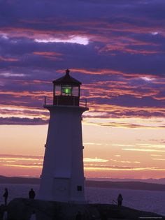 Lighthouse at Sunset in Peggy's Cove, Nova Scotia  Richard Nowitz