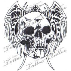 Marketplace Tattoo wings skull tattoo #12481 | CreateMyTattoo.com
