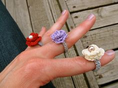 PATTERN PDF Lovely Rosette Ring Crochet