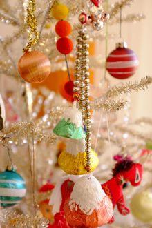 Vintage Christmas decorations.
