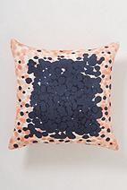 Sky Dip-Dot Pillow - Anthropologie.com Peach Bedding, Linen Bedding, Bedroom Linens, Linens, Dorm Room Bedding