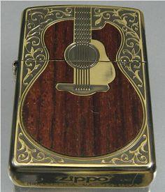Wood antique guitar ZIPPO