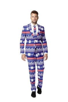 Set the holiday standard with this men's The Rudolph suit and tie set from OppoSuits. Mens Christmas Costumes, Christmas Suit, Ugly Christmas Sweater, Rudolph Christmas, Holiday Sweater, Suit Up, Suit And Tie, Tall Pants, Formal Suits