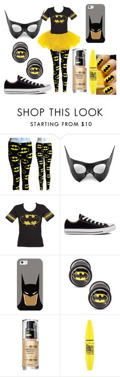 """DIY Halloween: Bat girl"" by laughlikecrazy ❤ liked on Polyvore featuring Masquerade, Converse, Casetify, Max Factor and Maybelline"